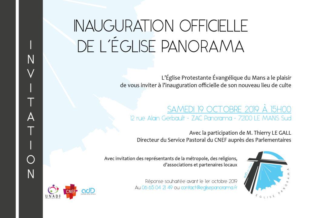 Inauguration officielle des locaux Panorama